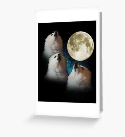 Gabe the Dog - Three Gabe Moon Greeting Card