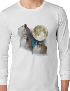 Gabe the Dog - Three Gabe Moon Long Sleeve T-Shirt