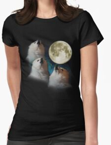Gabe the Dog - Three Gabe Moon Womens Fitted T-Shirt