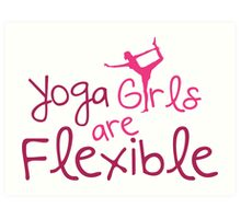 Yoga girls are flexible Art Print