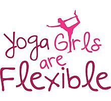 Yoga girls are flexible Photographic Print