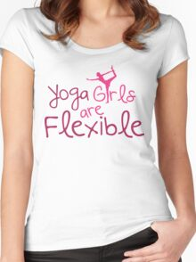 Yoga girls are flexible Women's Fitted Scoop T-Shirt