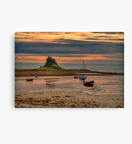 The Castle  Holy Island Canvas Print
