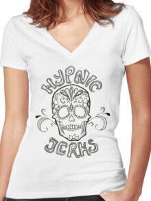 Dia De Los Muertos Women's Fitted V-Neck T-Shirt