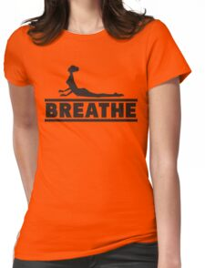 Yoga: Breathe Womens Fitted T-Shirt