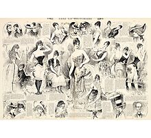 Vintage French Ladies Photographic Print
