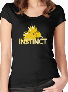 Stylized Team Instinct Print Women's Fitted Scoop T-Shirt