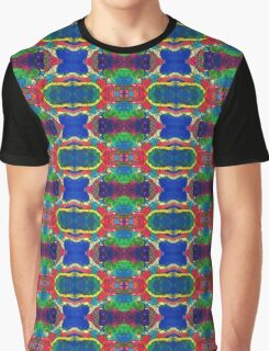 Blue Red Yellow Green Abstract Graphic T-Shirt