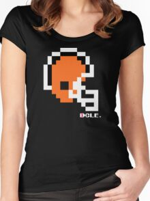 Tecmo Bowl - Cleveland Browns - 8-bit - Mini Helmet shirt Women's Fitted Scoop T-Shirt