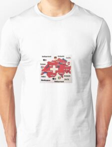 Map of Switzerland Unisex T-Shirt