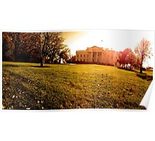 The White House in Autumn Poster