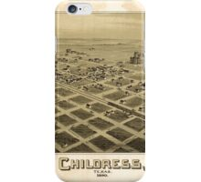 Panoramic Maps Childress Texas 1890 iPhone Case/Skin