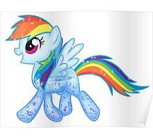 Rainbow Dash Glitter Poster