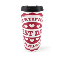 Certified Best Dad (with hearts) Travel Mug
