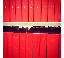 Red Book Display Photographic Print