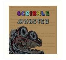 Scribble Monster Art Print