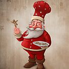 Santa Claus pastry cook by jordygraph