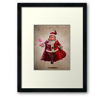 Santa Claus Super Hero Framed Print