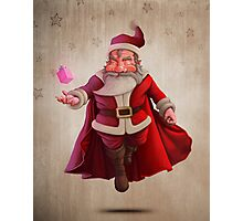 Santa Claus Super Hero Photographic Print