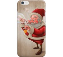 Santa Claus and the bubbles soap iPhone Case/Skin