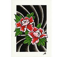 Traditional Japanese peony flower Photographic Print