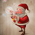 Santa Claus and the bubbles soap by jordygraph