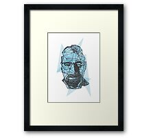 Breaking Bad Walter White Crystal Blue  Framed Print