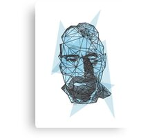 Breaking Bad Walter White Crystal Blue  Canvas Print
