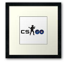 Pokemon and cs go Framed Print