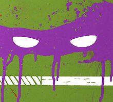 Teenage Graffiti Purple Mask by bencriss