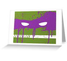 Teenage Graffiti Purple Mask Greeting Card