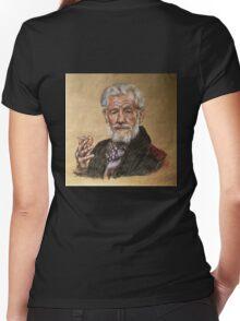 Sir Ian McKellen  Women's Fitted V-Neck T-Shirt
