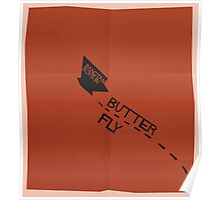 HYYH pt.2 x Saul Bass - Butterfly Poster