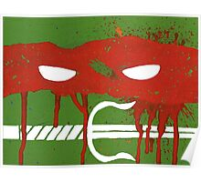 Teenage Graffiti Red Mask Poster