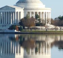Jefferson Memorial in Autumn Sticker