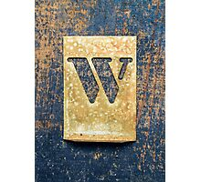 Letter W Photographic Print