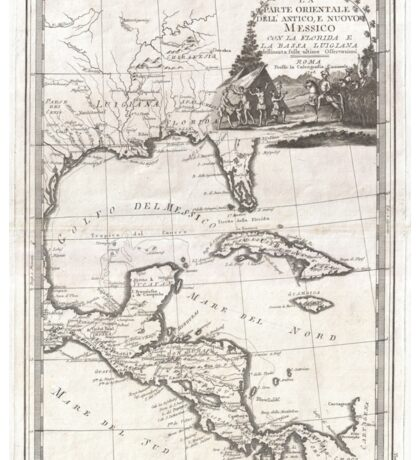 Vintage Map of The Gulf of Mexico (1798) Sticker