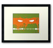 Teenage Graffiti Orange Mask Framed Print
