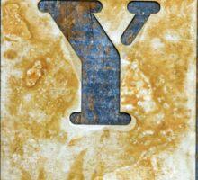 Letter Y Sticker