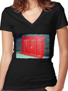 I Almost Loved You - dripping paint on wall Women's Fitted V-Neck T-Shirt