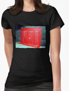 I Almost Loved You - dripping paint on wall Womens Fitted T-Shirt