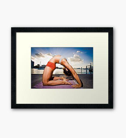 Kapotasana - Arms Straight Framed Print