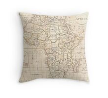 Vintage Map of Africa (1799) Throw Pillow