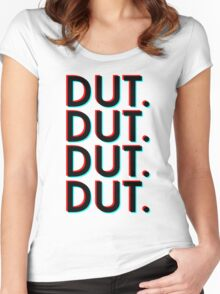 Dut. x4 (white background) Women's Fitted Scoop T-Shirt