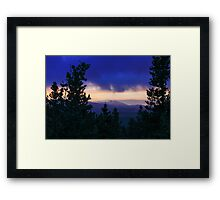 Storm Clouds over the Rockies Framed Print
