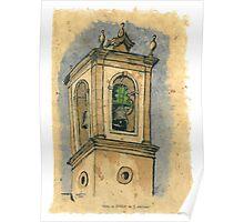Torre dea Igreja de S.Martinho Poster