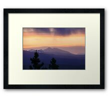 Mountains in the Distance Framed Print