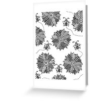 Flowers and Ladybugs Greeting Card
