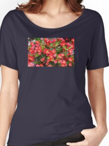 Red Flowers Bloom Women's Relaxed Fit T-Shirt