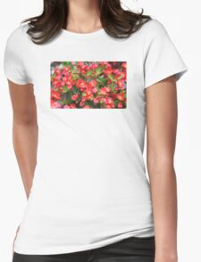Red Flowers Bloom Womens Fitted T-Shirt